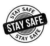 Stay Safe rubber stamp
