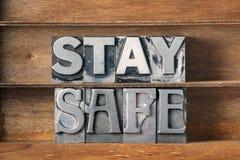 Stay safe tray Stock Photos