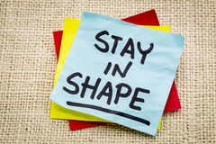 Stay in shape reminder Stock Image