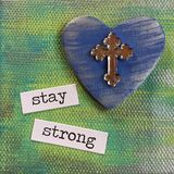 Stay Strong Canvas Stock Photo