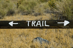Stay on the trail sign Royalty Free Stock Image