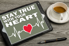Stay true with your heart Stock Image