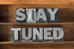 Stay tuned tray Stock Images