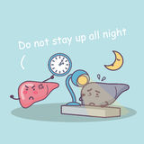 Stay up late damage liver Stock Photography