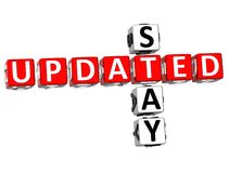 Stay Updated Crossword Royalty Free Stock Image