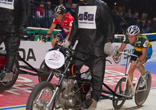 Stayer race at Sixday-Nights Zuerich 2011 Royalty Free Stock Photos