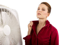 Staying Cool At Work Stock Images