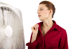 Staying Cool At Work Royalty Free Stock Photography