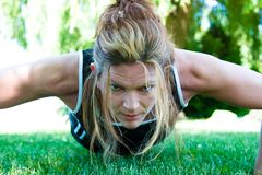 Staying Fit - Pushup Stock Photos