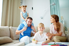 Staying at home Stock Image