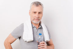 Staying hydrated. Royalty Free Stock Image