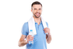Staying hydrated. Stock Photography