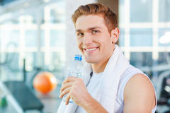 Staying hydrated. Stock Image