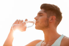 Staying hydrated. Royalty Free Stock Photography