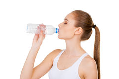 Staying hydrated. Royalty Free Stock Photo
