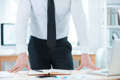 Staying straight to business. Stock Image