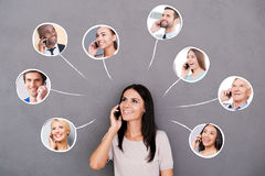 Staying in touch. Stock Photography