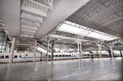 Stazione ad alta velocità ferroviaria della Cina Fotografie Stock Libere da Diritti