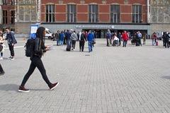 Stazione a Amsterdam Fotografia Stock