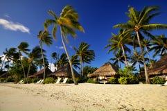 Stazione balneare con i bungalow in Bora Bora immagine stock