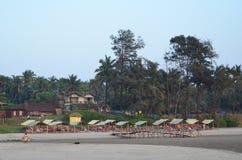 Stazione balneare di Mandrem, turism tropicale Fotografia Stock Libera da Diritti