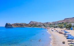 Stazione balneare di Stegna Isola di Rodi La Grecia Immagine Stock Libera da Diritti