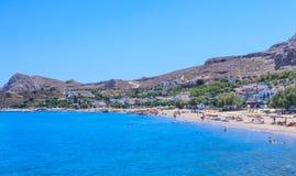 Stazione balneare di Stegna Isola di Rodi La Grecia Fotografia Stock