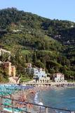 Stazione balneare popolare della spiaggia in Italia Fotografia Stock