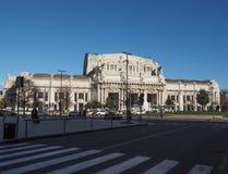 Stazione Centrale在米兰 免版税库存图片