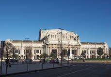 Stazione Centrale在米兰 免版税图库摄影