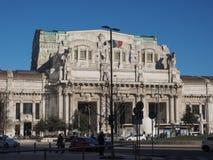 Stazione Centrale在米兰 免版税库存照片