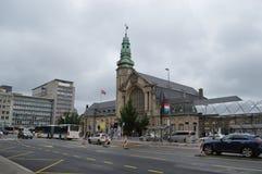 Stazione centrale alla città di Lussemburgo fotografia stock