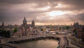 Stazione centrale Amsterdam fotografia stock