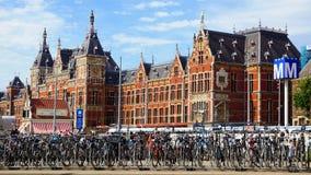 Stazione centrale a Amsterdam. I Paesi Bassi fotografie stock libere da diritti