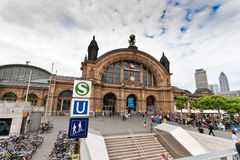 Stazione centrale di Francoforte immagini stock libere da diritti
