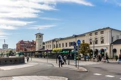 Stazione centrale di Malmo e un centro di viaggio fotografia stock libera da diritti