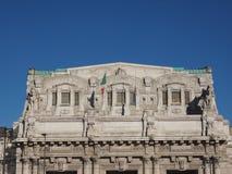 Stazione Centrale i Milan Arkivfoto