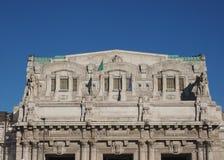 Stazione Centrale a Milano Immagine Stock