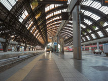 Stazione Centrale platforms in Milan Royalty Free Stock Images
