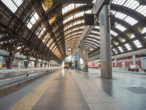 Stazione Centrale platforms in Milan Royalty Free Stock Photography