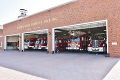 Stazione dei pompieri degli S.U.A. dello stato di Smyrna Delaware fotografia stock