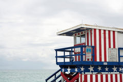 Stazione del bagnino, Miami Beach Fotografie Stock