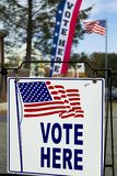 Stazione del collegio elettorale di elezione immagine stock