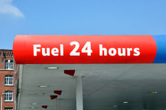 Stazione del combustibile da 25 ore Fotografia Stock
