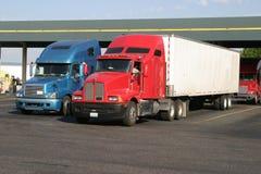 Stazione del combustibile di Truckstop Fotografie Stock