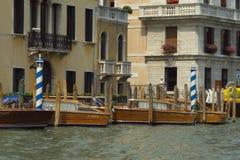 Stazione del crogiolo di tassì a Venezia Fotografie Stock Libere da Diritti