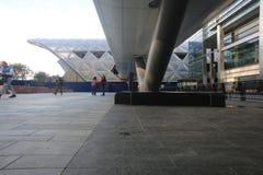 Stazione del Crossrail in Canary Wharf Fotografia Stock Libera da Diritti
