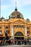 Stazione del Flinders, Melbourne Immagine Stock Libera da Diritti