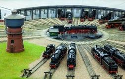 Stazione del garage delle locomotive Fotografia Stock Libera da Diritti