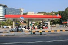 Stazione del petrolio di Hong Kong Caltex Immagine Stock